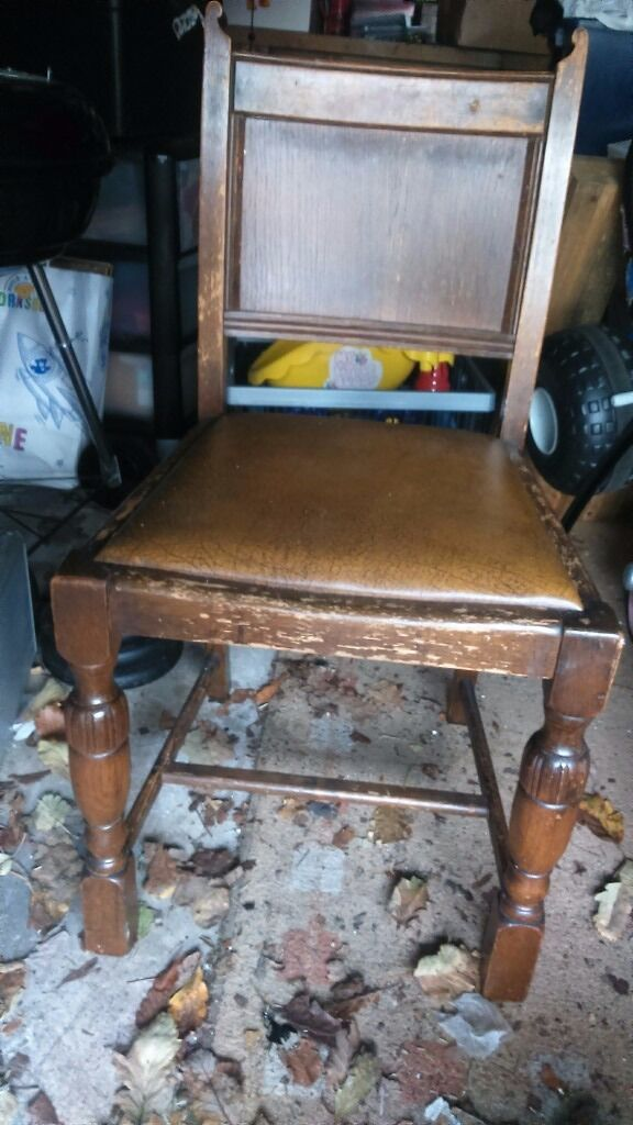 vintage dining chair ideal for upcycling project