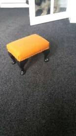 Dainty harris tweed footstool