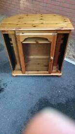 Pine TV corner cabinet stand