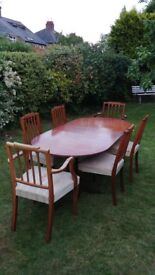 Regency Reproduction Dining table & chairs