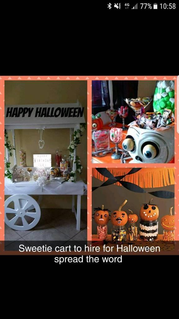 Halloween sweetie cart to hire