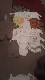 Bundle of boys new born clothes