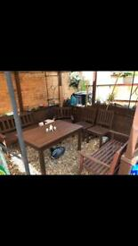 Very massive and good wood Table and 4x chairs .