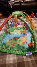 Fisher Price rainforest lights and sounds activity mat