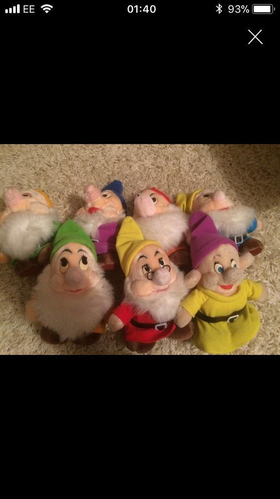 Vintage Disney seven dwarfs rare