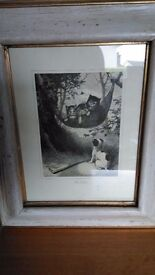 Lovely picture with antique style frame