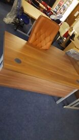 Walnut office desk available in 1400, 1600 or 1800 size