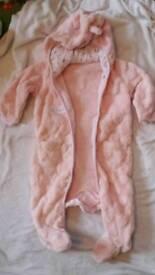Baby girl lightweight pramsuit 6-9 month