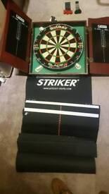 Dartboard full set up