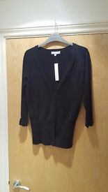 "Brand New Black ""Redherring"" Cardigan (still with tags on)"