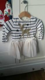 Christmas NEXT tutu dress size 6-9 months