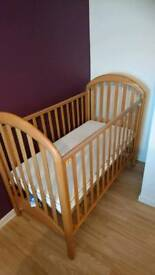 Cot and mattress for sale