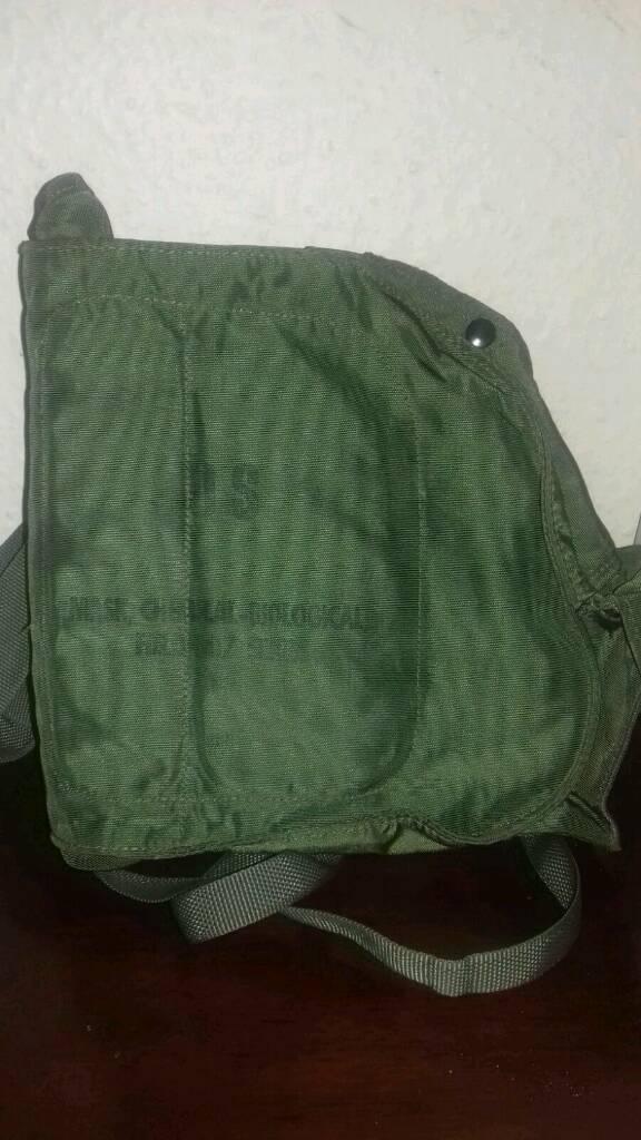 US army gas mask bag