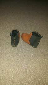 kids brown and black ankel boots