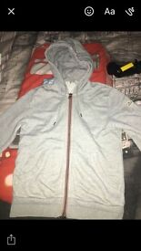 Grey moncler zipper