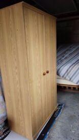 Two door wardrobe for sale