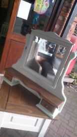 Refurbed bedroom mirror with small drawers