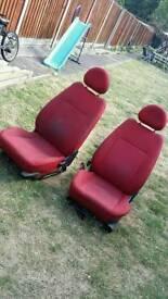 Vauxhall corsa c front seats