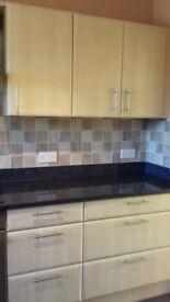 kitchen units, john lewis, granite worktops, cupboards wall units, dishwasher etc