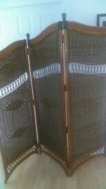 Room divider , wicker , perfect for retail beauty /therapy business.