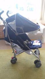 Brand New😊 Maclaren Quest Medieval stroller blue/silver