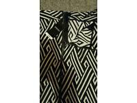 Black and white skirt matalan