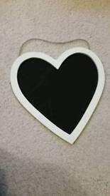 Heart shaped black board