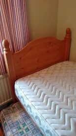 Solid pine single beds. One slots under the other......