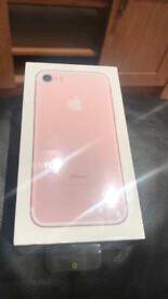 Brand new unopened sealed iPhone 7 rose gold 32gb