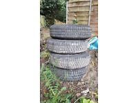 4x partly used GT Radial Kargomax C ST-6000 165p13c Tyres