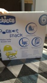 New chicco booster seat. No used.