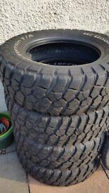BF Goodrich all terrain tyres.