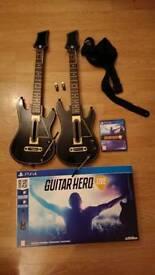 Guitar Hero PS4 with 2x Guitars