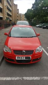 Red Volkswagen Polo S70. 1.2l Petrol.