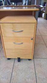 2 x 2 Drawer Heavy Duty Pine Office Cabinets