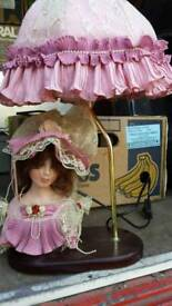 Unsual lady figure table lamp