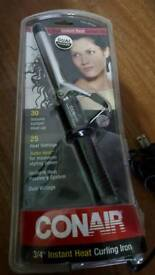 Hair curling iron - Instant heat dual voltage - in good condition and working order.