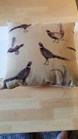 Dunelm pheasant cushion - size medium. Brand new