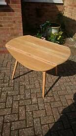 An ercol folding dining table