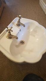 Pair of bathroom sinks