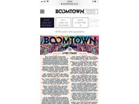2x boomtown tickets 2x zooloo 1 x car Park