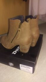 Tan Dune ankle boots