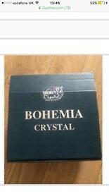Bohemia Crystal ~ Rose bowl & metal cover