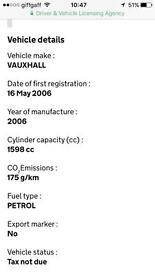 Vauxhall zafira 1.6 club