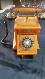 vintage wooden telephone £40.