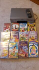 Toshiba Video Cassette Player plus selection of children's videos FOR SALE