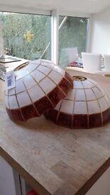 2 bnwt tortoise shell lamp/ceiling shades