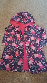 Girls peppa pig raincoat aged 4-5 years