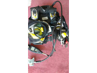 Mares Hub medium BCD with integrated weights and dive computer, suitable for spares