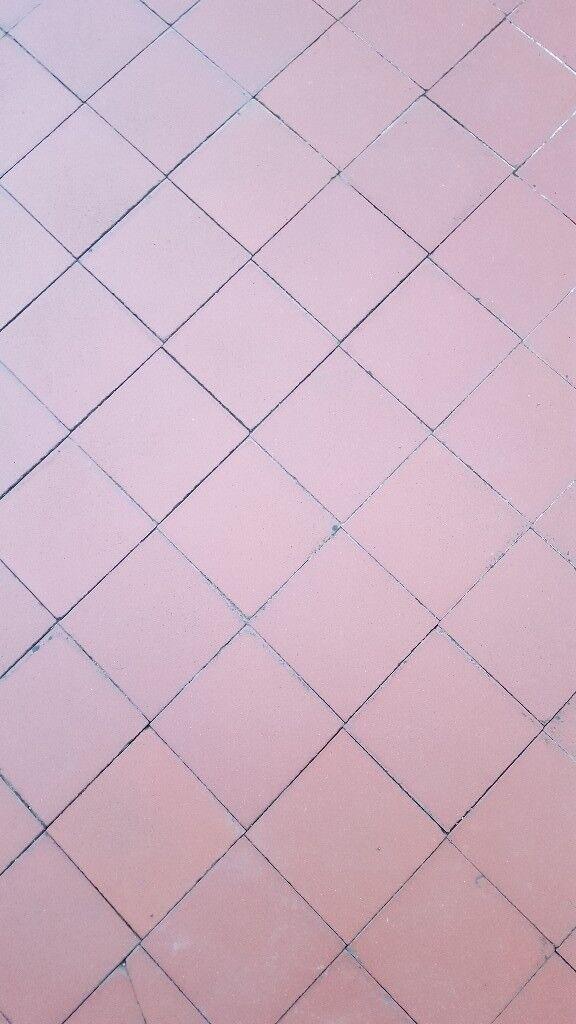Square Terracotta Floor Tiles 1930s 43msq In Porthcawl Bridgend